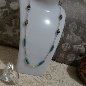 Beautiful Italy  Sterling/Turquoise necklace